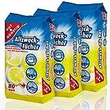 Feuchte Reinigungstücher in Spenderverpackung 240 Stück - 3er Pack (Inhalt 3 x 80 Stück) - Mit frischem Z