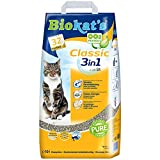 Biokat's Classic 3in1 ohne Duft - Klumpende Katzenstreu mit 3 unterschiedlichen Korngrößen - 1 Sack (1 x 10 L)