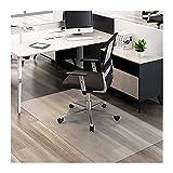 AWSAD Computer Stuhl Bodenmatte, Harte Fußbodenstuhlmatten Müheloses Rollen Bodenschutz Zum Harte Böden Rollstuhl Skid PVC Transparent Pad (Color : 3mm, Size : 80cmX80cm)