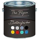 The Flynn Betonfarbe hochwertige Bodenfarbe Fassadenfarbe Hoch-elastische Kunststoffbeschichtung ohne Grundierung auf Boden und Wand aus Beton Putz Zement Mauerwerk Stein (2,5 L, Betongrau (RAL 7023))