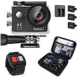 REMALI 4K-Sport-Action-Kamera-Paket auf Amazon – Tragetasche, 2 zusätzliche Batterien, Dual-Ladegerät, Fernbedienung, 19 Halterungen und Zubehör