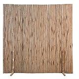 Zerone Bambuszaun, Flexibel Dekorative Zäune Sichtschutz Zaunelement für Drinnen und Draußen, 180 x 170 cm B