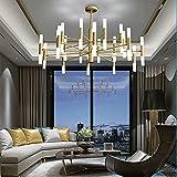 yanzz Moderner Sputnik Black Chandelier 40 Lights Acryl Lampenschirm Kronleuchter Deckenleuchte Einfache Deckenleuchte Esszimmer Küche Wohnzimmer [Energieeffizienzklasse A +++], Gold, 100CM