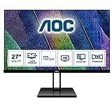 AOC 27V2Q - 27 Zoll FHD Monitor, FreeSync (1920x1080, 75 Hz, HDMI, DisplayPort) schwarz