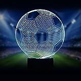 Nordic LED Tischlampe, 7 Farben Optische Wunderlampe Kreative Fußball Tischlampe Wiederaufladbare Dekorative Nachttischlampe Mit Berührungsschalter Tischlampe