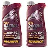 Motoröl Motor ÖL Oel Benzin Diesel MANNOL Racing+Ester 10W-60 API SN/CH-4 2x 1 L