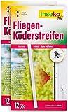 inseko 24 x Fliegen-Köderstreifen I Fliegenköder für Fenster I Fliegenfalle (24)