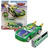 Disney Pixar Cars XRS Rocket Racing Series Eric Braker mit Schutzwall