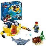 LEGO 60263 City Mini-U-Boot für Meeresforscher Unterwasser Set, Tauchabenteuer Spielzeug für Kinder ab 4 J