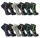 BestSale247 12 Paar Herren Sport Freizeit Sneaker Socken Füßlinge Baumwolle (Muster 1, 43-46)