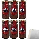 Conservas Ortiz Anchoas Sardellen in Olivenöl 6er Pack (6x95g Glas) + usy Block