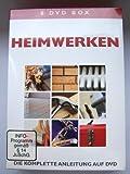 8 DVD Box HEIMWERKEN - Die komplette Anleitung auf DVD [DVD] -FLIESENLEGEN,SICHERHEIT RUND UMS HAUS,KLEMPNERARBEITEN,TISCHLERARBEITEN,WARTUNGARBEITEN RUND UMS HAUS,ZENTRALHEIZUNG,MAURERARBEITEN,STREICHEN UND DEKORIEREN