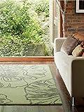 Benuta Wollteppich Matrix Liberty Grün 120x170 cm/Naturfaserteppich für Wohnzimmer und Schlafzimmer