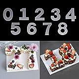 RAYNAG Zahlenschablonen aus Kunststoff, flach, 30,5 cm, Zahlenschablonen für selbstgemachte Zahlen, Kuchen, Kekse