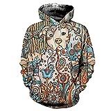 MY.BESTB Hidden Dog/Wolf Pattern Hoodies Herren 3D Print Hoodie Persönlichkeit Übergroße Sweatshirts