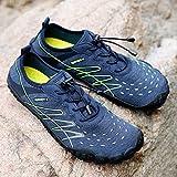 Tree-de-Life Leichte Schuhe Soft Seaside Strandschuhe Quick Dry Aqua Water Schuhe für Herren Damen Barfuß Sport Tauchen Surfschuhe blau 39