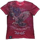 HARLEY-DAVIDSON H D Custom Herren T-Shirt Dirty Red Rot Official Ride The Dream Strass S 46