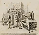 H. W. Fichter Kunsthandel: CHODOWIECKI (1726-1801). Empfehlung König Philipps IV; Druckgraphik