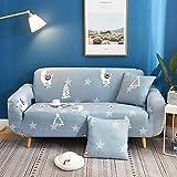 Sofabezug 3Sitzer Hellgraues Alpaka Couch Überwurf Sofa Sauber Bezug Stretchy Antirutsch Couchbezug Moderne Sofaschoner Sitzfläche Sofaüberwurf für Tiere Katzen