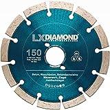LXDIAMOND Diamant-Trennscheibe 150mm PROFI Diamantscheibe für Beton Mauerwerk Universal Trennscheibe passend für Bepo FFS 150 151 Fensterfräse Montagefräse Fensterfugenschneider 150 mm