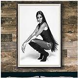 Qqwiter Chantelle Brown-Young Sexy Model Filmstar Poster Und Drucke Kunst Wand Leinwand Poster Druck Wohnzimmer Wohnkultur -50x70cm Kein Rahmen
