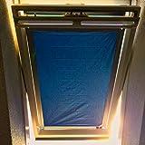 eXsun Sonnenschutz X6 für 96 x 93 cm (Glasinnenmaß) - Dachfenster Rollo Hitzeschutz Verdunkelungsrollo Thermofix Verdunkelung - mit Krafthaftsaugern - ohne Bohren - kein Nageln - kein Schrauben