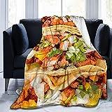 Kuscheldecke Tacos Decke Mikrofaser Sofaüberwurf Superweich und Flauschig Fleecedecke Warm, Gemütlich, Langlebig für Bett und Sofa