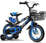 Kinderfahrrad für Mädchen und Jungen ab 2-7 Jahre, 12 14 Zoll Kinderrad Classic, Fahrrad für Kinder tützräder, Luftbereifung, Jungen & Mädchen, Kinder Fahrrad,Blue_12'