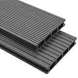 vidaXL WPC Terrassendielen 25m² 4m 25mm Grau Komplettbausatz Komplettset D