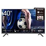 Hisense 40AE5500F 100cm (40 Zoll) Fernseher (Full HD, Triple Tuner DVB-C/ S/ S2/ T/ T2, Smart-TV, Frameless, Prime Video, Netflix, YouTube, DAZN),schwarz