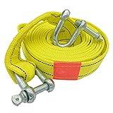 enenjie ENE 5 Tonnen 5 m hohe Festigkeit Nylon-Abschleppseile Pull-Seile Greifenkabel mit U-Haken Bäcker (Size : A)