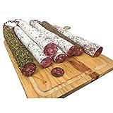 katalanische Fuet Wurst im 5er Mix - große Auswahl an Sorten möglich - luftgetrocknete Salami aus Spanien