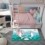 ZAZN Cartoon Kinderteppich Ist Für Das Schlafzimmer Geeignet Nachtbett Prinzessin Stil Große Teppich Fußmatten Können Gewaschen W
