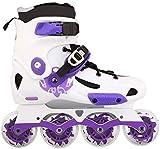 BESTPRVA Roller Skates Inline Skates, Erwachsene einreihig Skates Vierrädrige Roller Skates Professionelle Männer und Frauen Skates (Color : Purple, Size : 38 EU/6 US/5 UK/24cm JP)