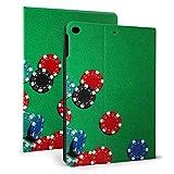 Ipad Cover Case Kartenchips auf dem Spieltisch Ipad Cover Schutz für Ipad Mini 4 / Mini 5/2018 6th / 2017 5th / air/air 2 Mit Auto Wake/Sleep Magnetic Cute Ipad Case