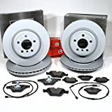 Zimmermann Bremsscheiben Coat Z/Bremsen + Bremsbeläge + Warnkabel für vorne + hinten