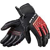 REV'IT! Motorradhandschuhe kurz Motorrad Handschuh Sand 4 Handschuh schwarz/rot XL, Herren, Tourer, Ganzjährig, Leder/Textil