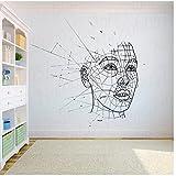 WYLYSD Menschliche Polygonale Kunst Wanddekor Aufkleber Geometrische Kunst Wanddekor Wandbilder Home Decor Wallpaper 57X66C