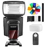 Neewer TT560 Flash Speedlite mit 12 Farbfiltern und IR Drahtlose Fernbedienung Kit für Canon Nikon Panasonic Olympus und andere DSLR Kameras, Harter D