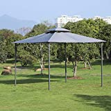 Ausstattung Patio Pavillon aus Stahl Stahldach Zelt Pavillon 2 Tier Dach Dach Sonnenschirm