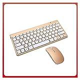 ZCPCS. Mini-Wireless-Tastatur-Maus-Set-USB-Externe Notebook-Desktop-Computer kann verwendet Werden (Color : G)