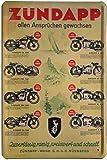 Blechschild 20x30 cm Zündapp Programm Kult Motorrad Werbung Plakat Metall S