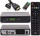 [Test Gut*] Anadol Sat Receiver HD 222 Pro digital für Satellitenschüssel - Aufnahmefunktion PVR, Timeshift, HDMI, SCART Anschluss, USB - Unicable geeignet, Astra, Hotbird vorinstalliert + HDMI Kabel