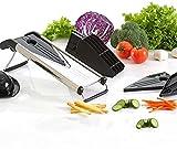Gemüseschneider, Obst- und Lebensmittelschneider, Käsereibe, Gemüse, Julienne-Schneider mit Edelstahl-Klinge und Klingenschutz