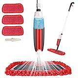Aiglam Sprühwischer, Bodenwischer mit Sprühfunktion für schnelle Reinigung, Spray Mop mit Sprühdüse, Wischer mit Wassertank und 3-Mikrofaserbezug