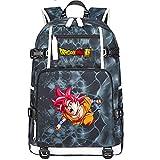 ZZGOO-LL Dragon Ball Son Goku/Vegeta IV/Torankusu Umhängetasche Outdoor-Rucksack für viel Aufbewahrungstasche USB Unisex-E