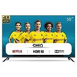 CHiQ U50H7L Rahmenloser UHD Fernseher 50 Zoll TV 4k Randlos Smart TV 126 cm Bilddiagonale [Assembled in EU] (Version 2020, Amazon Prime Video, Youtube, Netflix)