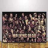 Dervom 1000 Teile Puzzle Cartoon Charaktere Klassisches Puzzle Spiel der Walking Dead Dekoratives Puzzle für Erwachsene und Kinder 75x50CM