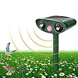 Katzenschreck Tiervertreiber Ultraschall, Tiervertreiber Solar Batteriebetrieben Wetterfest, Katzenschreck Marderschreck Hundeschreck Zur Abwehr für Katzen, Hunde, Vögel, Mäuse