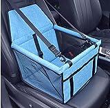 Rosei Hundesitz Auto Hunde Autositz Rückbank & Vordersitz Transportbox Wasserdicht, für Kleine Mittlere große Hunde (Blau)